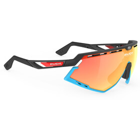Rudy Project Defender Gafas, black matte/azur/multilaser orange racing